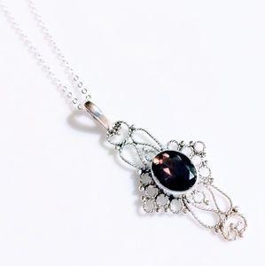 Jewelry - SMOKEY TOPAZ .925 STERLING SILVER NECKLACE